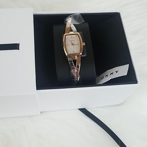 Dkny Accessories - DKNY Rose Gold & Silver Bracelet Watch